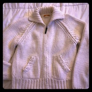 J. Crew ivory knit sweater